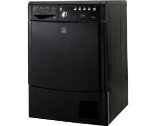 Indesit Eco Time IDCE8450BKH 8Kg Condenser Tumble Dryer - Black - B Rated Best Price, Cheapest Prices