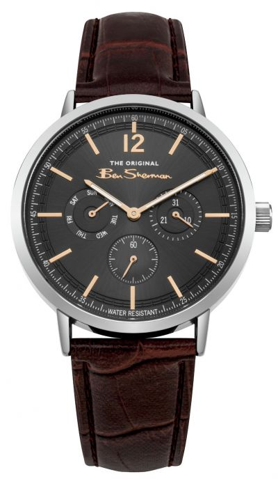 Ben Sherman Men's Brown Faux Leather Strap Watch Best Price, Cheapest Prices