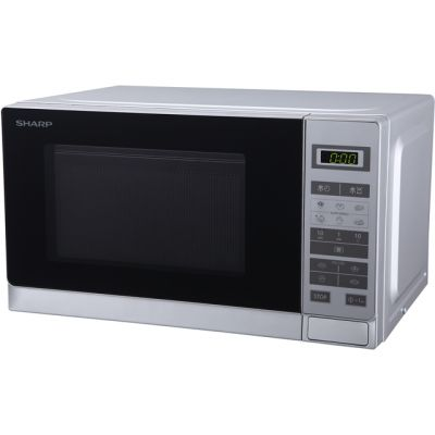 Sharp R220SLM 20 Litre Microwave - Silver Best Price, Cheapest Prices