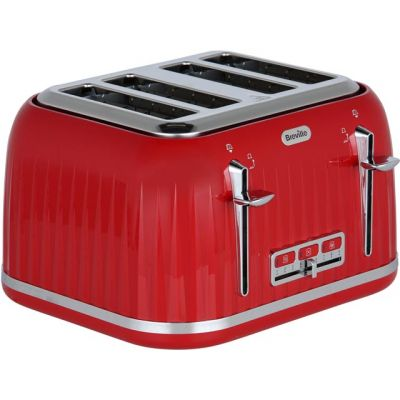 Breville Impressions VTT783 4 Slice Toaster - Red Best Price, Cheapest Prices