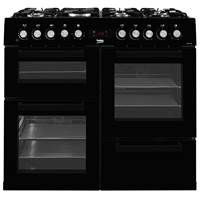 Beko KDVF100K 100cm Dual Fuel Range Cooker in Black