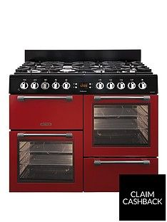 Leisure CK100F232R 100cm Dual Fuel Range Cooker with Optional Connection - Red Best Price, Cheapest Prices