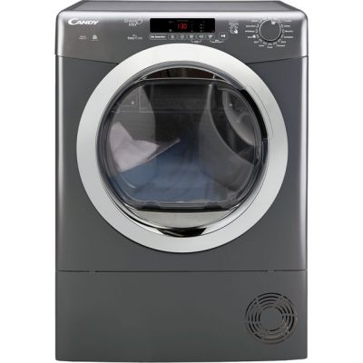 Candy Grand'O Vita GVSC9DCGR 9Kg Condenser Tumble Dryer - Graphite - B Rated Best Price, Cheapest Prices