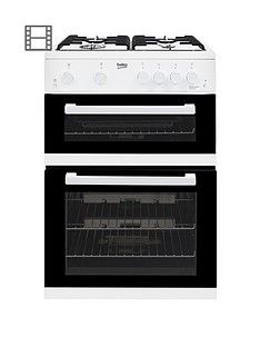 Beko KDG611W 60cm Gas Cooker with Full Width Gas Grill - White Best Price, Cheapest Prices