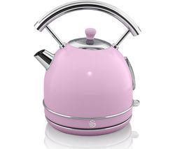 SWAN Retro SK34021PN Traditional Kettle - Pink Best Price, Cheapest Prices