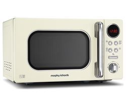 MORPHY RICHARDS Accents 511501 Compact Solo Microwave - Cream Best Price, Cheapest Prices