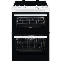 Zanussi ZCI66050WA 60cm Double Oven Electric Cooker With Induction Hob - White Best Price, Cheapest Prices