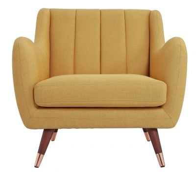 Argos Home Leila Fabric Armchair - Yellow Best Price, Cheapest Prices