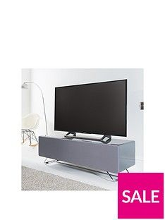 Alphason Chromium 120 Cm Concept Tv Stand - Grey - Fits Up To 60 Inch Tv Best Price, Cheapest Prices