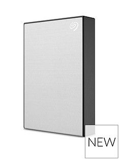 Seagate Seagate 4TB Backup Plus Slim Portable Hard Drive - Silver Best Price, Cheapest Prices