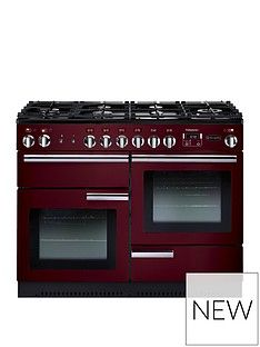 Rangemaster  PROP110DFFCY Professional Plus 110cm Wide Dual Fuel Range Cooker - Cranberry Best Price, Cheapest Prices