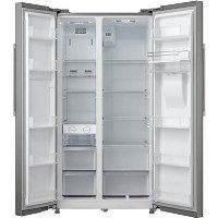 Montpellier CSBYS600DX 2 Door American Style Fridge Freezer With Non-Plumb Water Dispenser - Inox Best Price, Cheapest Prices