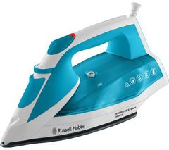 RUSSELL HOBBS Supreme 23040 Steam Iron - White & Blue Best Price, Cheapest Prices