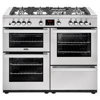 Belling Cookcentre 110G Professional 110cm Gas Range Cooker in Stainless Steel Best Price, Cheapest Prices