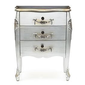Toulouse Silver 3 Drawer Chest Best Price, Cheapest Prices