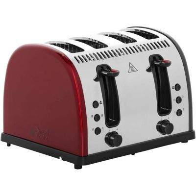 Russell Hobbs Legacy 4 Slice Polished 21301 4 Slice Toaster - Red Best Price, Cheapest Prices