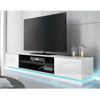 Large White Gloss TV Stand with LED Lighting - TV's up to 70