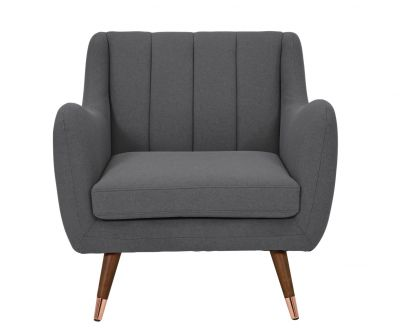 Argos Home Leila Fabric Armchair - Charcoal Best Price, Cheapest Prices