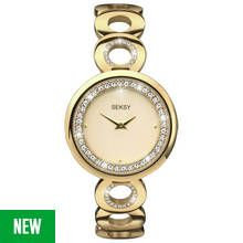 Seksy Ladies' Gold Plated Stone Set Bracelet Watch Best Price, Cheapest Prices