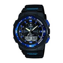 Casio Men's Black Resin Strap Sports Combi Watch Best Price, Cheapest Prices