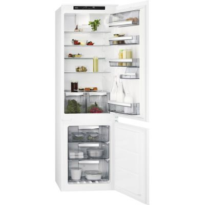 AEG SCE8181VTS Integrated 70/30 Frost Free Fridge Freezer with Sliding Door Fixing Kit - White - A+ Rated Best Price, Cheapest Prices