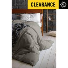 Heart of House 100% Cotton Dove Grey Bedding Set - Kingsize Best Price, Cheapest Prices