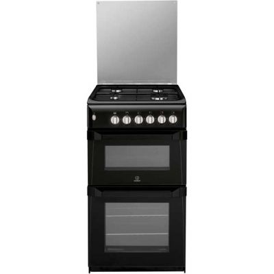 Indesit ITL50GK Gas Cooker with Gas Grill - Black - A+ Rated Best Price, Cheapest Prices