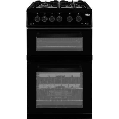 Beko ADVG592K 50cm Gas Cooker with Full Width Gas Grill - Black - A+/A Rated Best Price, Cheapest Prices