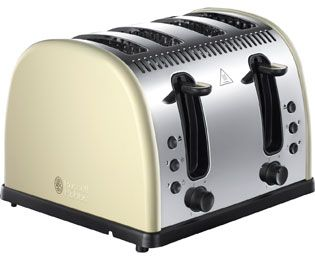 Russell Hobbs Legacy 4 Slice Polished 21302 4 Slice Toaster - Cream Best Price, Cheapest Prices