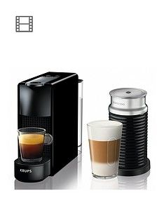 Nespresso XN111840 Essenza Mini Coffee Machine with Aeroccino by Krups - Black Best Price, Cheapest Prices