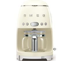 SMEG 50's Retro DCF02PBUK Filter Coffee Machine - Cream Best Price, Cheapest Prices