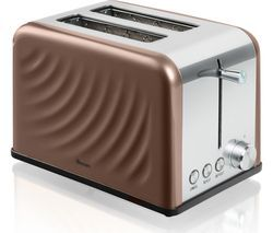 SWAN ST19010TWN 2-Slice Toaster - Copper Twist Best Price, Cheapest Prices