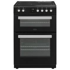 Belling FSE608DPC 59.5cm Double Oven Electric Cooker - Black Best Price, Cheapest Prices