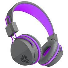 JLab JBuddies Kids Wireless Headphones - Grey/ Purple Best Price, Cheapest Prices