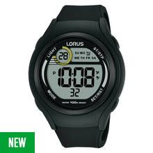 Lorus Men's Black Silicone Strap Digital Watch Best Price, Cheapest Prices