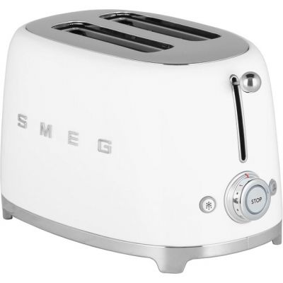 Smeg 50's Retro TSF01WHUK 2 Slice Toaster - White Best Price, Cheapest Prices