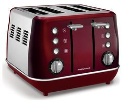 MORPHY RICHARDS Evoke One 4-Slice Toaster - Red Best Price, Cheapest Prices