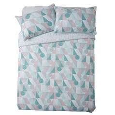 Sainsbury's Home Triangle Print Bedding Set - Double Best Price, Cheapest Prices