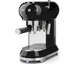SMEG ECF01BLUK Coffee Machine - Black Best Price, Cheapest Prices