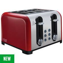 Russell Hobbs 22406 Worcester 4 Slice Toaster - Red Best Price, Cheapest Prices