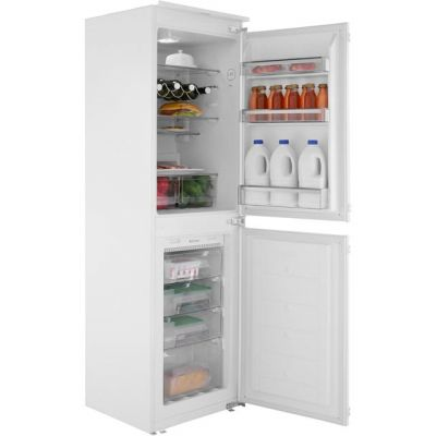 Amica BK296.3FA Integrated 50/50 Frost Free Fridge Freezer with Sliding Door Fixing Kit - White - A+ Rated Best Price, Cheapest Prices