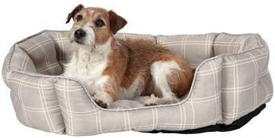 Country Check Oval Pet Bed - Large Best Price, Cheapest Prices