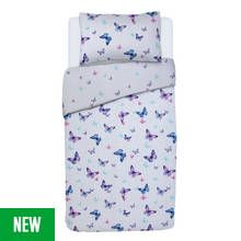 Argos Home Butterfly Bedding Set - Single