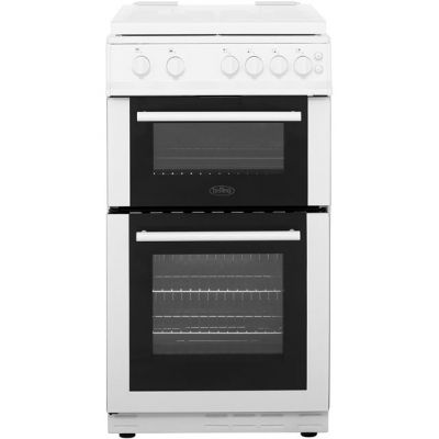 Belling FS50GTCL Gas Cooker with Full Width Gas Grill - White - A Rated Best Price, Cheapest Prices