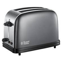Russell Hobbs 23332 Colours+ 2 Slice Toaster - Grey Best Price, Cheapest Prices