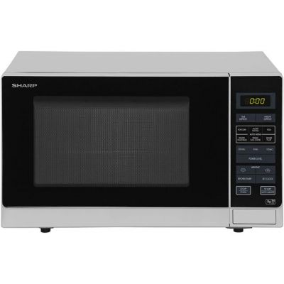 Sharp R372SLM 25 Litre Microwave - Silver Best Price, Cheapest Prices