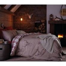 Catherine Lansfield Natural Stag Duvet Cover Set - Double Best Price, Cheapest Prices