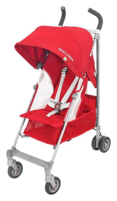Maclaren Globetrotter Stroller - Red and White