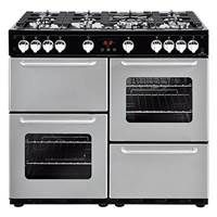 New World Traditional 100GT 100cm Gas Range Cooker in Silver 444444201 Best Price, Cheapest Prices