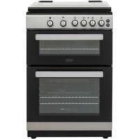 Belling FSG608Dc 60cm Double Oven Gas Cooker - Silver Best Price, Cheapest Prices